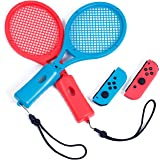 Tennis Racket for Nintendo Switch Mario Tennis Aces, Tennis Racket for Nintendo Switch Joy-Con Controller (Blue and Red)