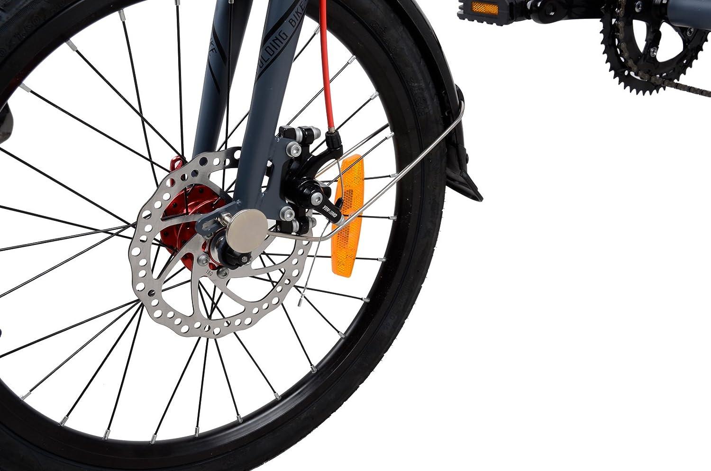 Camp 20 Alloy 16 Speed Folding Bike Disc Brake Element Mtb Fullsus Pride Greey Red Thunderbolt Sports Outdoors