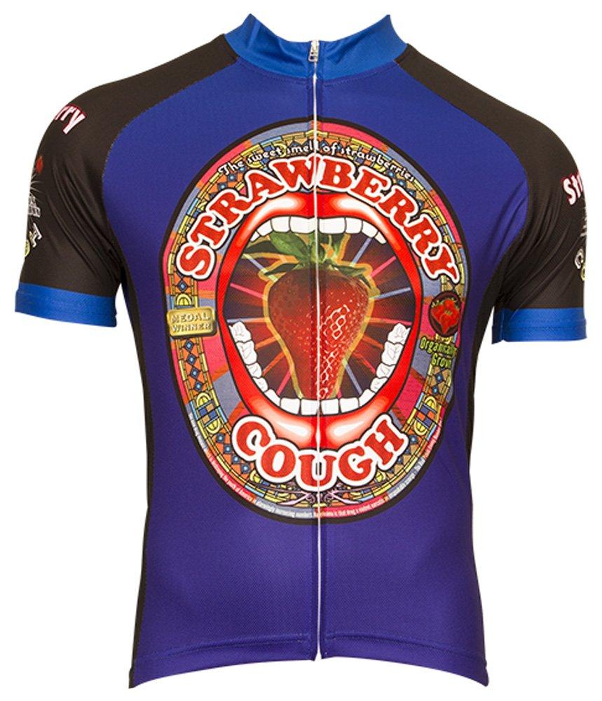 最安値に挑戦! レトロイメージアパレルStrawberry Cough Cycling Jerseyメンズショートスリーブ Cycling B07CJPDR6H Large Large B07CJPDR6H, カマイシシ:ec398491 --- arianechie.dominiotemporario.com
