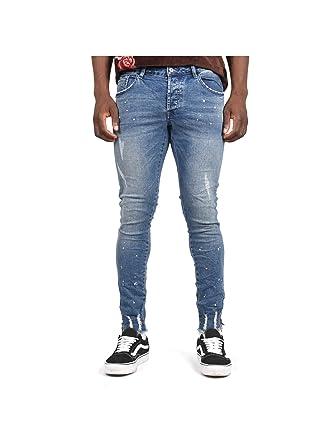 Details Paris With X Splat Project 29 Paint Blue Jeans Slim Fit thCxsrQd