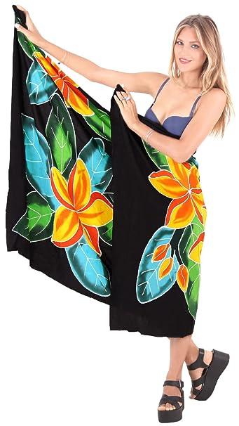 23d6935fd2286 LA LEELA Rayon Swimsuit Scarf Deal Dress Sarong Printed 78