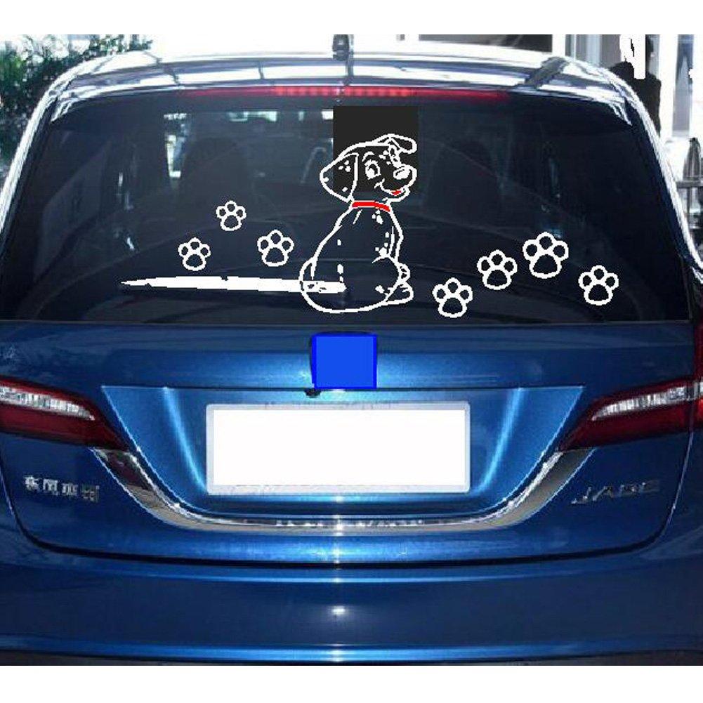 2 piezas, diseño moving cola pegatinas reflectantes coche ventana limpiaparabrisas adhesivos: Amazon.es: Coche y moto