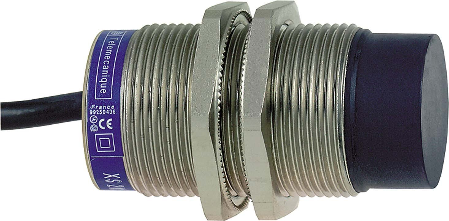 Schneider Electric XS630B4MAL2 Proximity Sensor NO 22mm, Inductive Sensor Xs6 M30 - L63Mm - Brass - Sn22Mm - 24.240Vac/Dc - Cable 2M