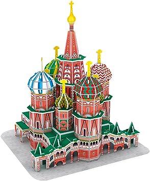 CubicFun Puzzle 3D Russia St. Basils Cathedral Rompecabezas 3D Arquitectura Modelo Kits de Construcción, 92 Piezas: Amazon.es: Juguetes y juegos