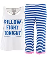 Mentally Exhausted Juniors Pillow Fight Capri Pajamas