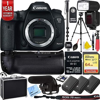 Amazon com: Canon EOS 7D Mark II 20 2MP DSLR Camera Wi-Fi