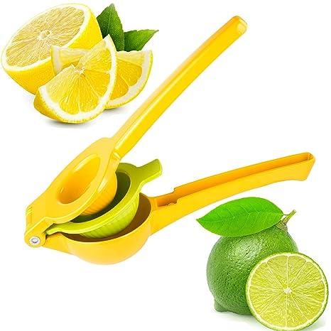 yokamira Exprimidor Manual de Limón, Exprimidor de Cítricos, Manual Acero Inoxidable Exprimidor de Limones – 2 en 1 Adecuado para Todos los Cítricos – ...
