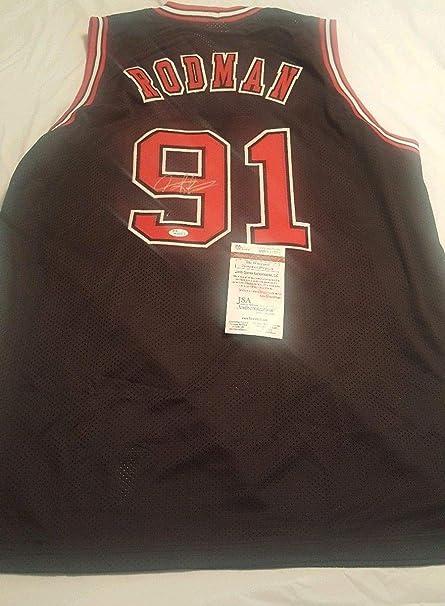 info for ac127 96aea Autographed Signed Autograph Dennis Rodman Chicago Bulls ...