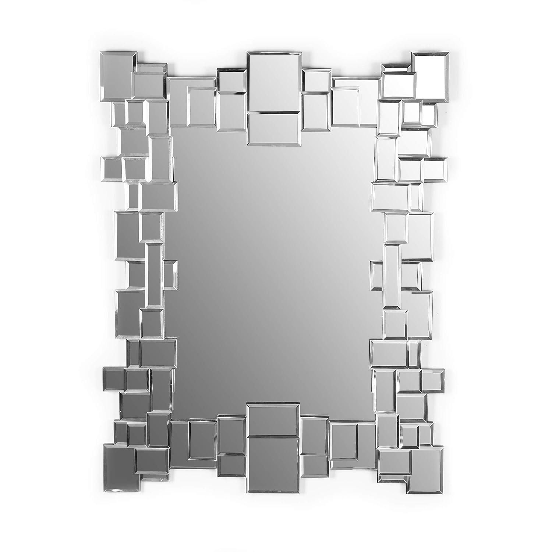 CDM product Marabell Large Rectangular Wall Mirror | Bathroom Vanity Bedroom Hallway Makeup Mirror | Hangs Vertical or Horizontal | 35-Inch x 28-Inch big image