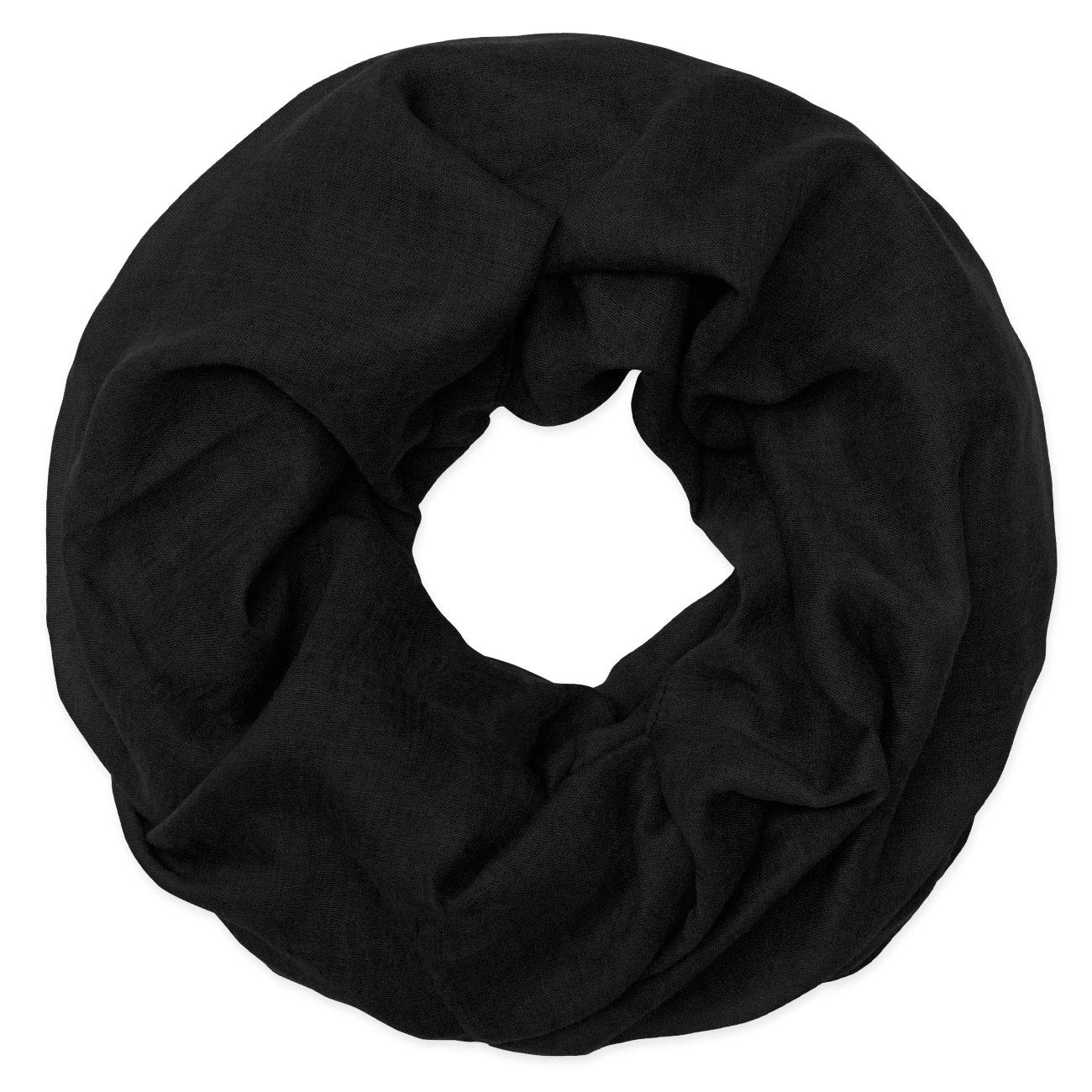 INFINITY SCARF tubo scialle Loopschal Nero cm 66