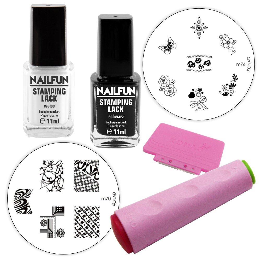 NAILFUN/KONAD Kit de Démarrage Nail Stamping NAILFUN ®