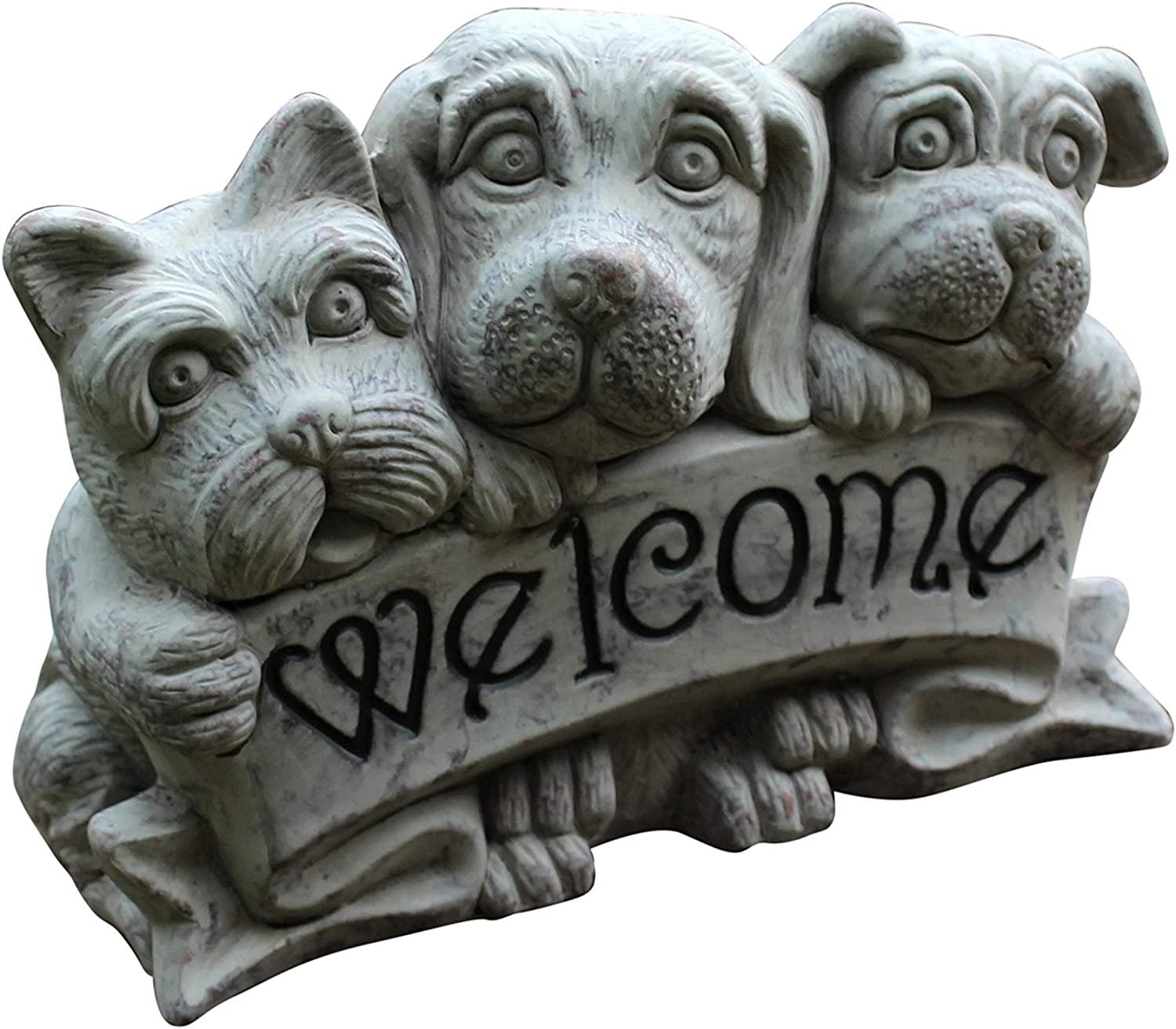 Garden Ornament Puppy Dog Decor Welcome Sign Outdoor Statue Home Amazon Co Uk Garden Outdoors