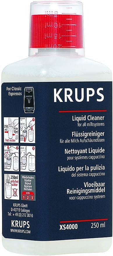 KRUPS - Líquido de limpieza para cafeteras de cappuccino: Amazon ...