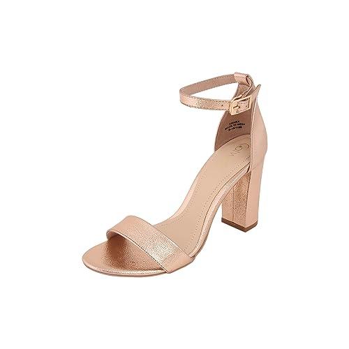 Buy Catwalk Rose Gold Heeled Sandals at