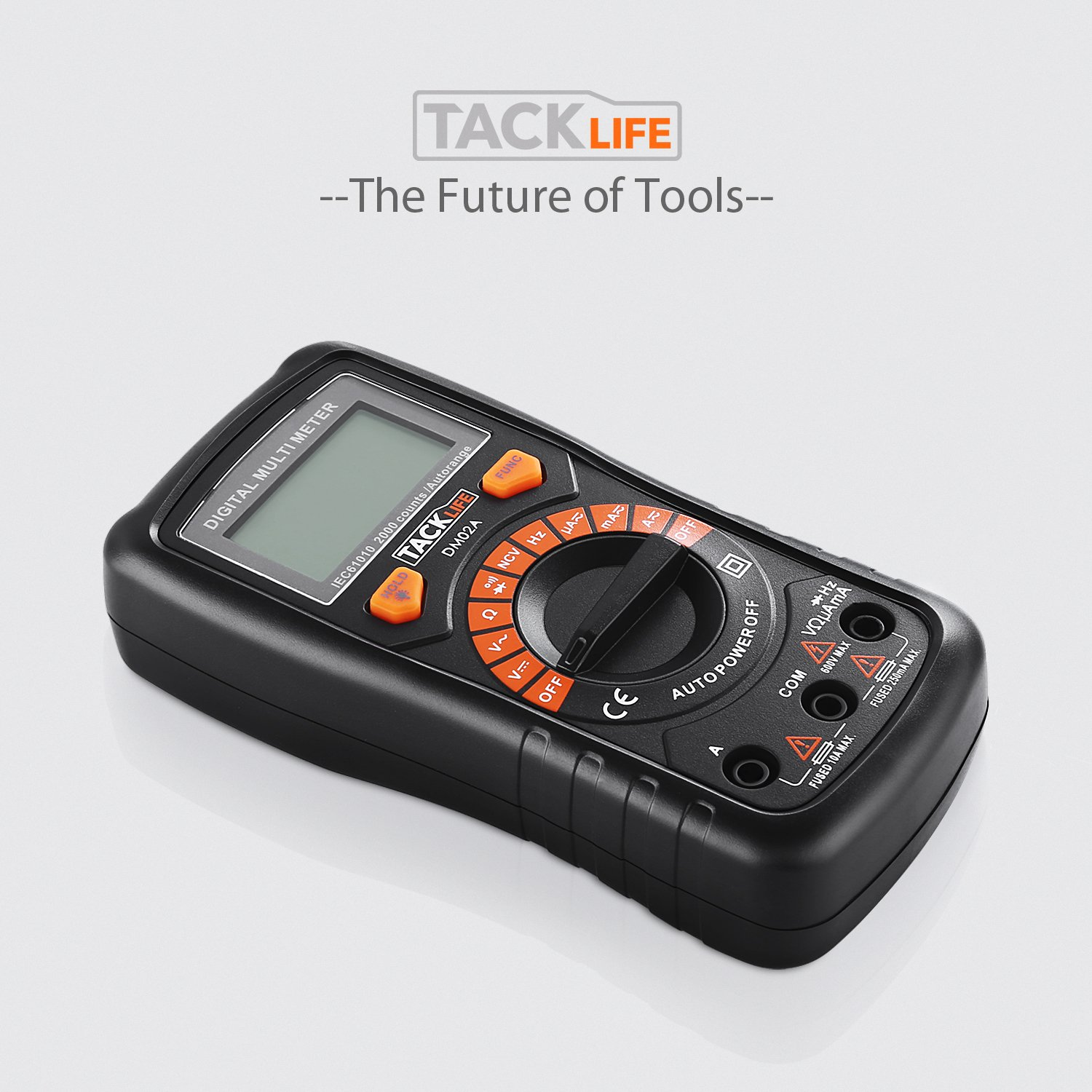 Multimeter Tacklife DM02S Auto-Ranging Digital Multimeters NCV Electrical Tester Multimeter Tester Volt Amp Ohm Diode, Continuity Test Meter LCD Backlight Measurement Tools with Screwdriver by TACKLIFE (Image #9)