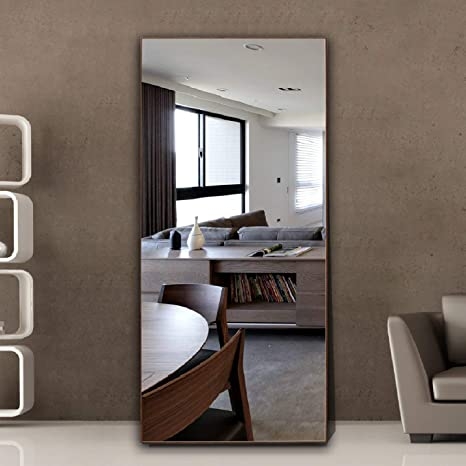 Brown, 65 x24 Thin Frame Floor Mirror