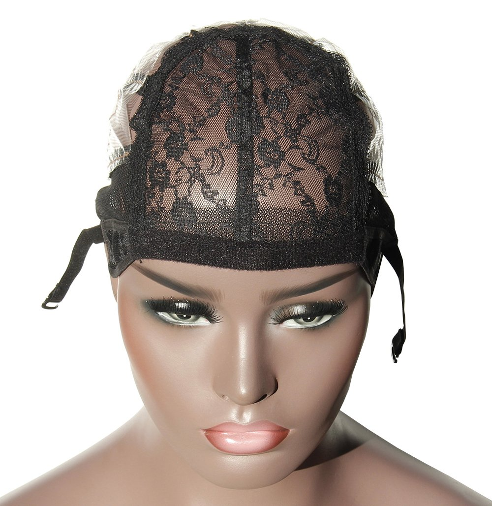 Young Hair Dissolved Open Back Adjustable Strap Wig Caps Weaving Caps For Wigs(3pcs/lot, Black)