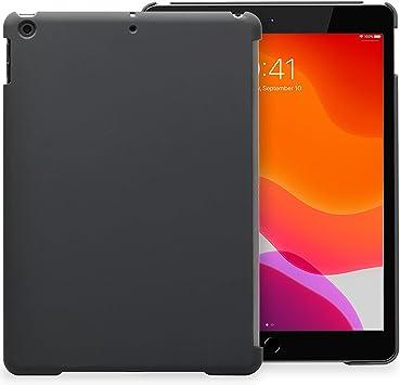 KHOMO Carcasa Trasera iPad 10.2 (2020 y 2019) iPad 8, iPad 7 Funda Posterior Compatible con Smart Cover y Teclado - Gris Oscuro
