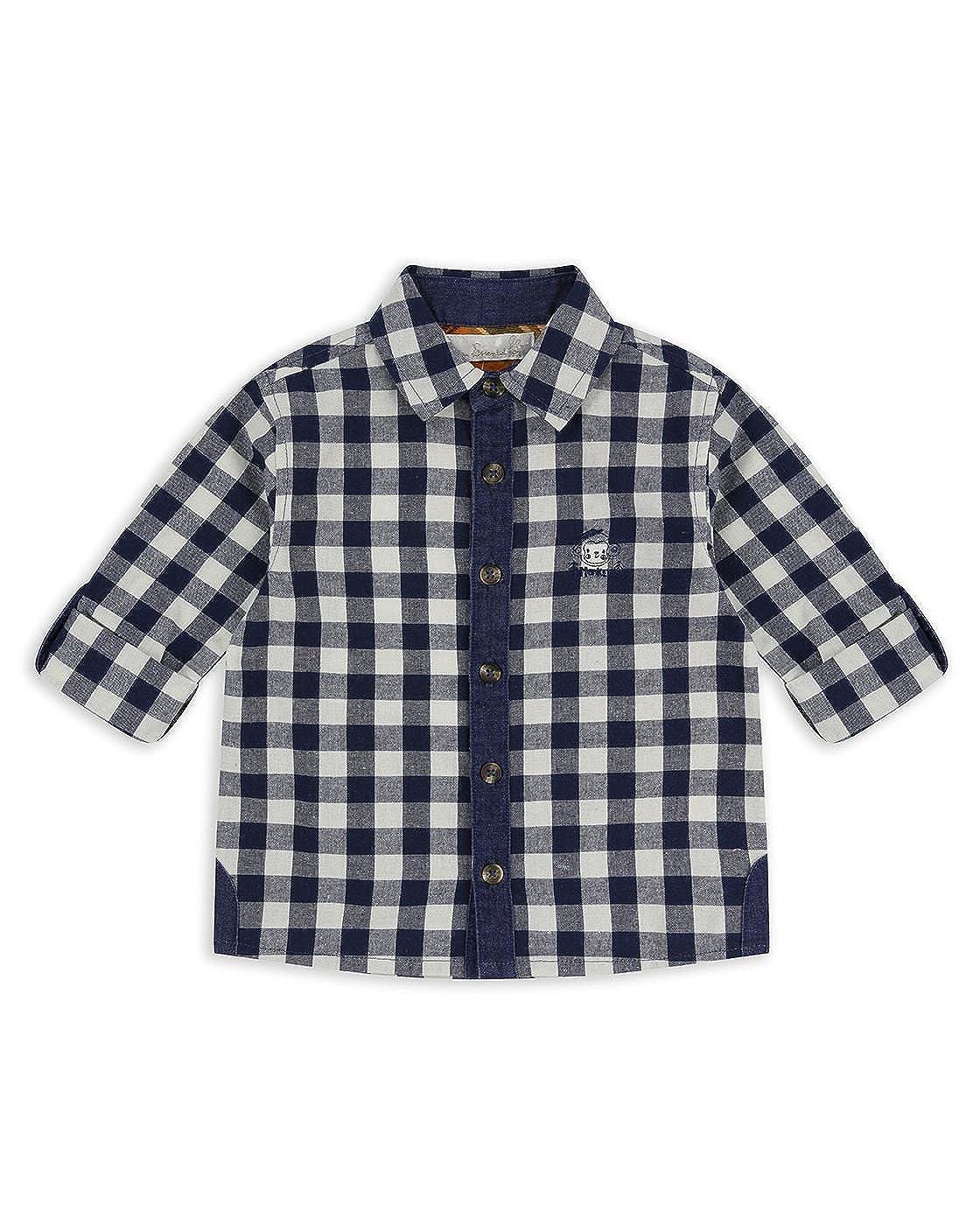 The Essential One Baby Kids Boys Long-Sleeve Monkey Shirt - Navy Blue - EOT456