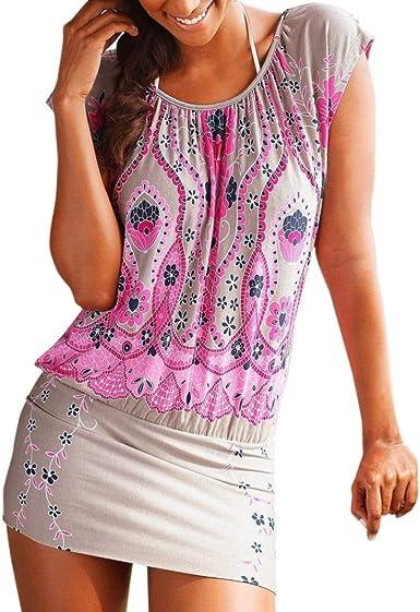 Mujer Vestidos | Mujer Vestir Ropa | Mujer Sexy Falda Chaleco Camisetas | Blusa De Fiesta Mujer | Tops Mujer Verano | Ropa De Mujer | Camisas Largas Mujer | (XXL, B): Amazon.es: Ropa y accesorios