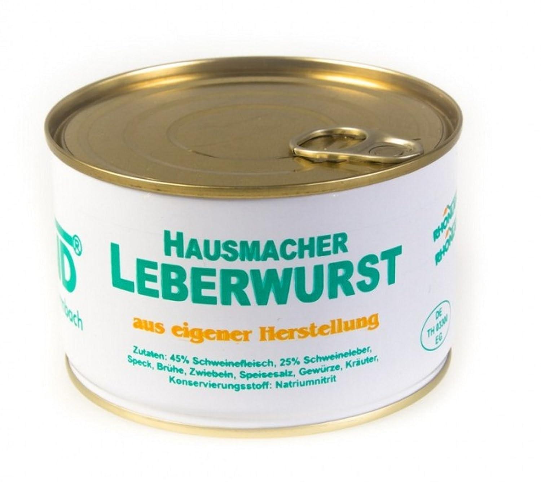 Rhönland Hausmacher Leberwurst, Eigene Herstellung, 400 g: Amazon ...