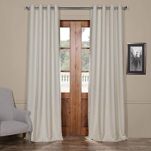 HPD Half Price Drapes BOCH-PL4201-120-GR Bellino Grommet Blackout Room Darkening Curtain 1 Panel , 50 X 120, Oat Cream