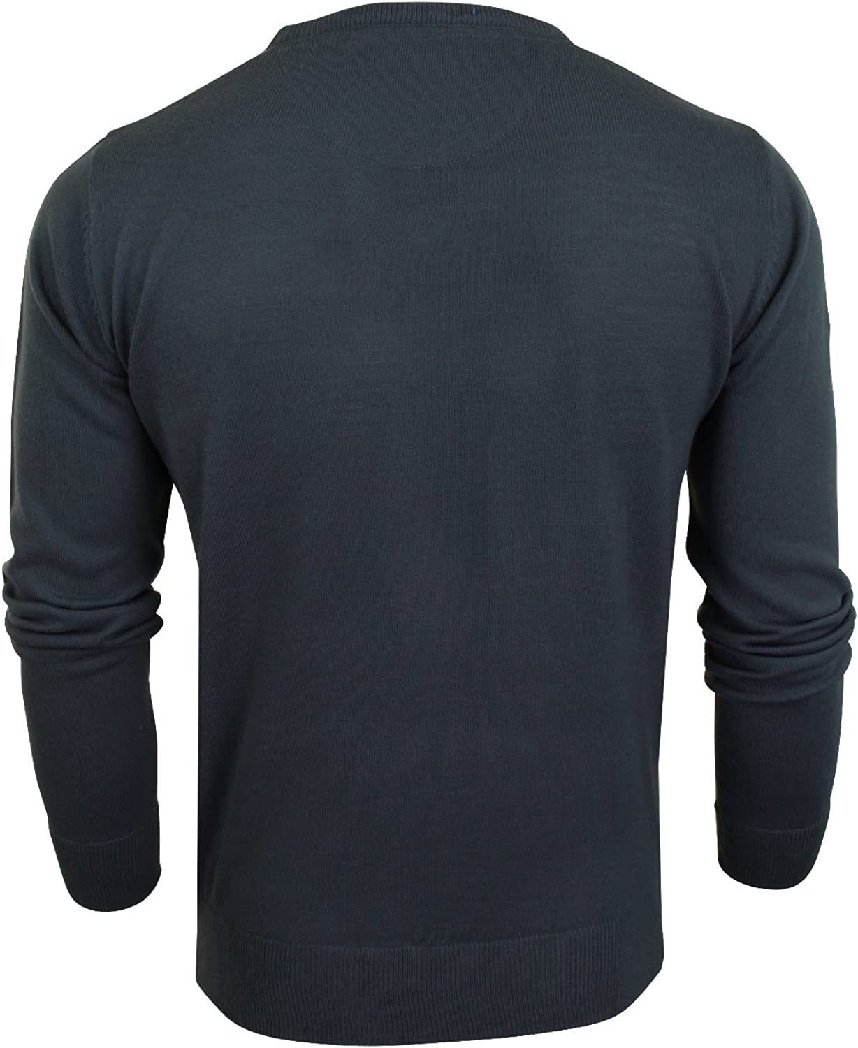 Xact Mens Jumper Fine Knit V Neck or Crew Neck