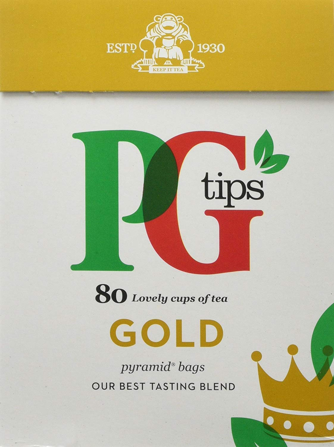 PG Tips Gold 80S Pyramid Teabags 232 G (Pack Of 6, Total 480 Teabags)