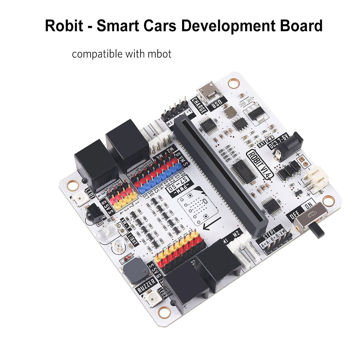 Seamuing Robit Smart Cars Robot Development Board Support 8 Channel G-5V-S Digital Signal Connectors Connect OCTOPUS Electric Brick, Compatible with MBOT