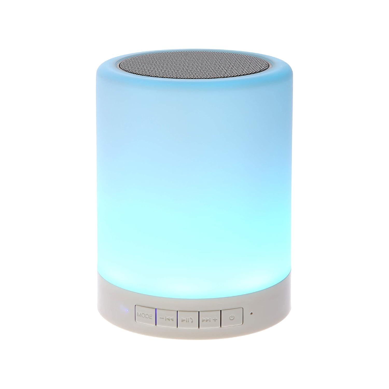 Amazon.com: SHAVA Night Light Bluetooth Speaker, Portable Wireless  Bluetooth Speakers, Touch Control, Color LED Speaker, Bedside Table Light,  ...