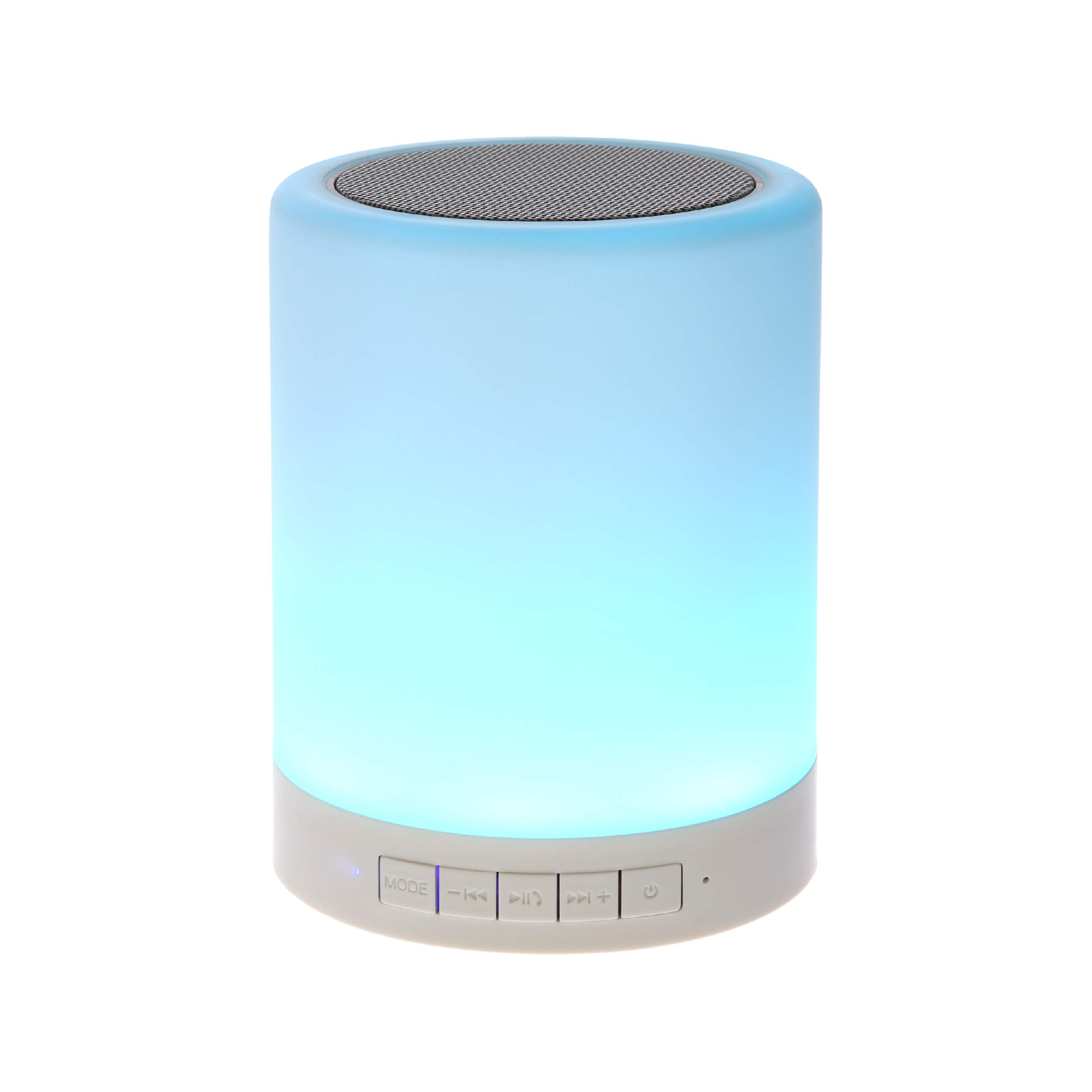 SHAVA Night Light Bluetooth Speaker, Portable Wireless Bluetooth Speakers, Touch Control, Color LED Speaker, Bedside Table Light, Speakerphone/TF Card/AUX-in Supported (White), 7 Price: $19.95