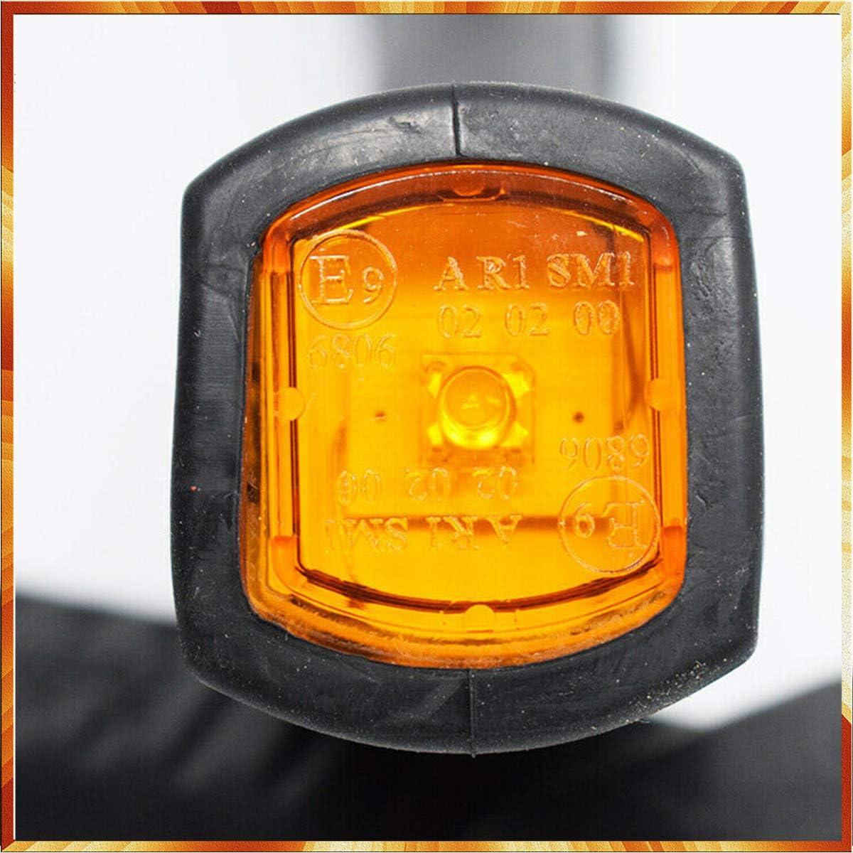 2 x feux de gabarit tricolore /à LED rouge et blanc feu de position lateral pour remorque camion camionette fourgon chassis