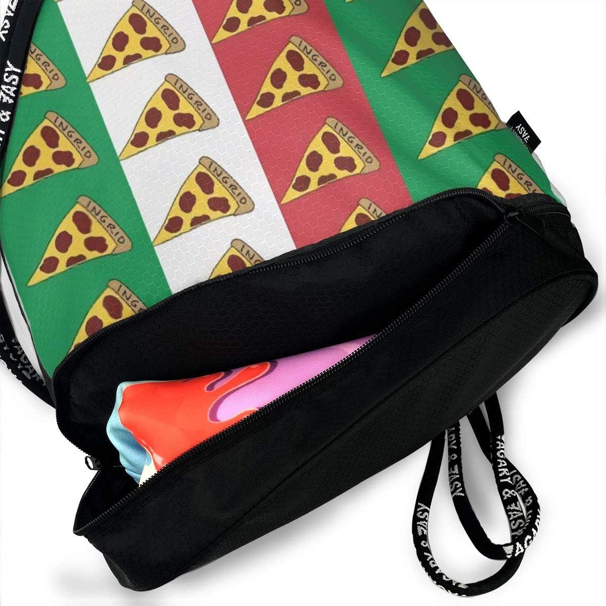 Italy Pizza Flag Multifunctional Bundle Backpack Shoulder Bag For Men And Women
