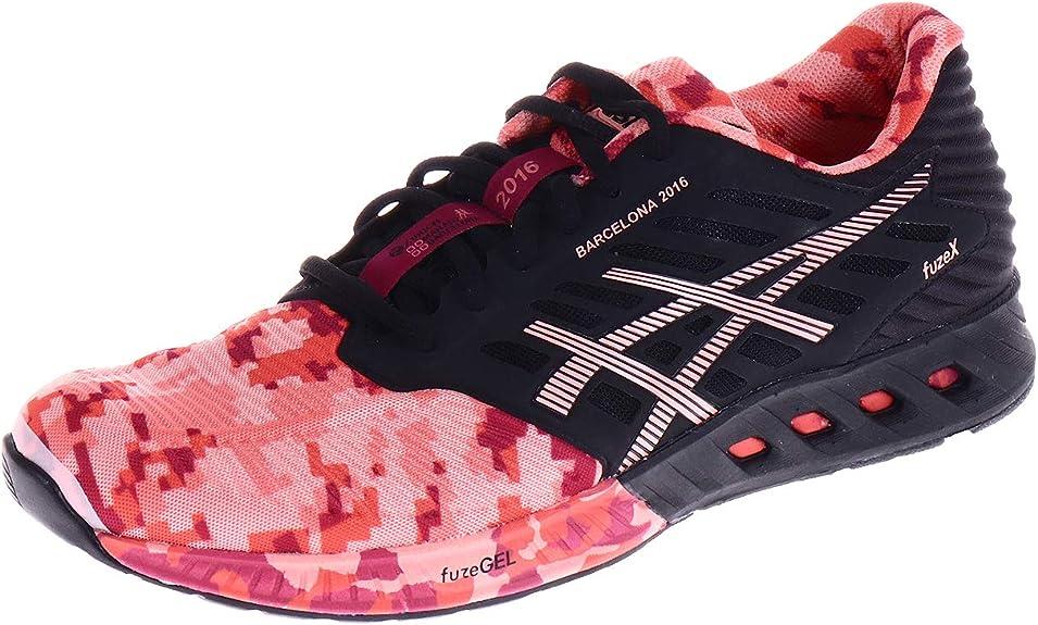 Asics Fuze X T66TQ9023 - Zapatillas de running para mujer, color negro y coral, color Multicolor, talla 42 EU: Amazon.es: Zapatos y complementos