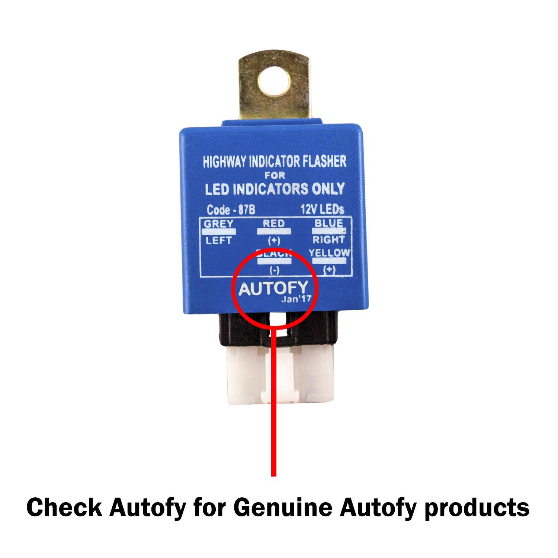 Autofy Light0155 Universal Highway Led Indicator Flasher For Single Circuit Indicators Blue 25 Patterns Car Motorbike