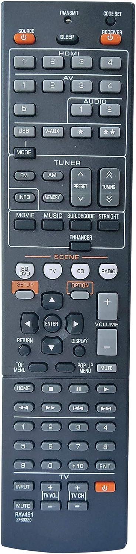 Control remoto para  Yamaha A/V ZF303200 ZF303500 RX-V373