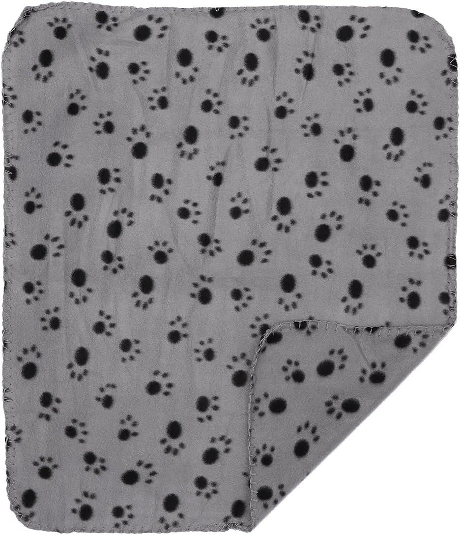 UEETEK Manta para mascotas, 60 x 70 cm, suave forro polar de doble cara, color gris