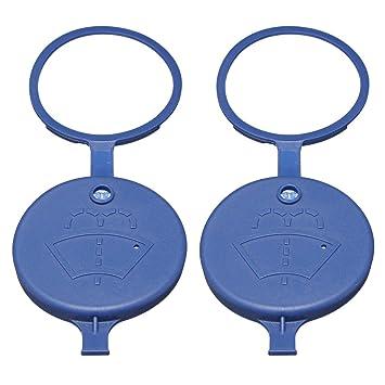 YONGYAO 2Pcs Escudo De Viento Limpiaparabrisas Limpiador Líquido Depósito Tapón Botella para Peugeot/Citroen: Amazon.es: Hogar