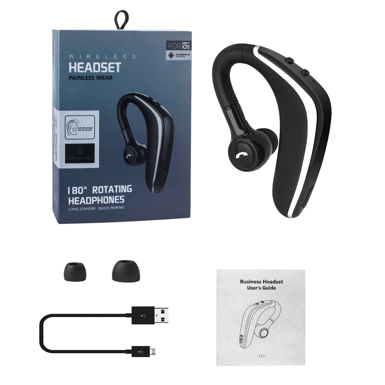 片耳 高音質 ビジネス ワイヤレス イヤホン マイク付き Beinhome Bluetooth 耳掛け式 ブルートゥースヘッドセット ヘッドセット Bluetooth5.0