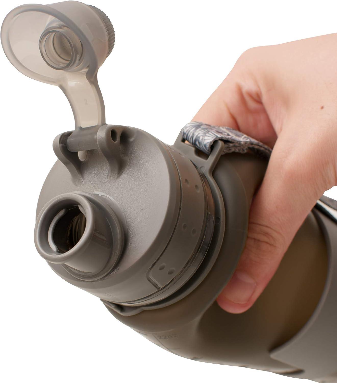 sin BPA Viajes y Senderismo Libertywalk Ideal para Camping 650 ml Botella Plegable de Silicona pr/émium 204 Gramos