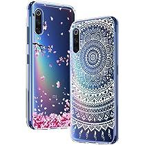 Yoowei Funda para Xiaomi Mi9 SE [2-Pack], Transparente con Dibujos Ultra Fino Suave TPU Silicona Protector Carcasa para Xiaomi Mi 9 SE (Flores de Cerezo, Mandala Blanca): Amazon.es: Electrónica