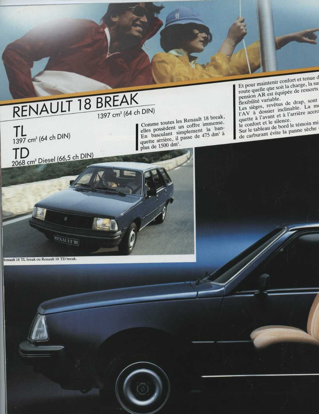 Amazon.com: 1984 Renault 18 Station Wagon Brochure French: Entertainment Collectibles