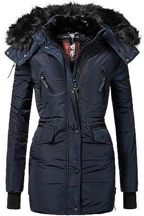 Navahoo Damen Jacke Wintermantel Winterparka Sesa (vegan hergestellt) Navy  Gr. XXL ff74369929