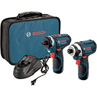 Bosch CLPK27-120 12-Volt Max Lithium-Ion 2-Tool Combo Kit with 2 Batteries, Charger and Case