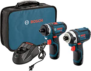 Bosch CLPK27-120 12V Max  2-Tool Combo Kit (Drill/Driver and Impact Driver) with 2 Batteries, Charger and Case