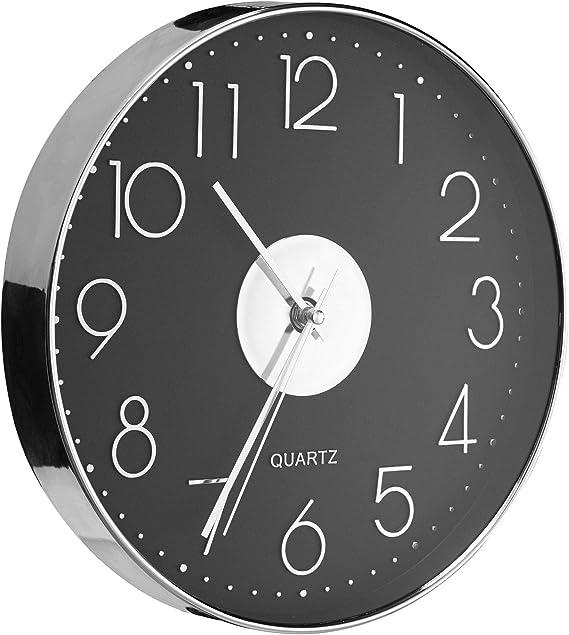 Taodyans Moderno Orologio da Parete Silenzioso Orologio da Cucina Quarzo da 30 cm Bianco-Argento