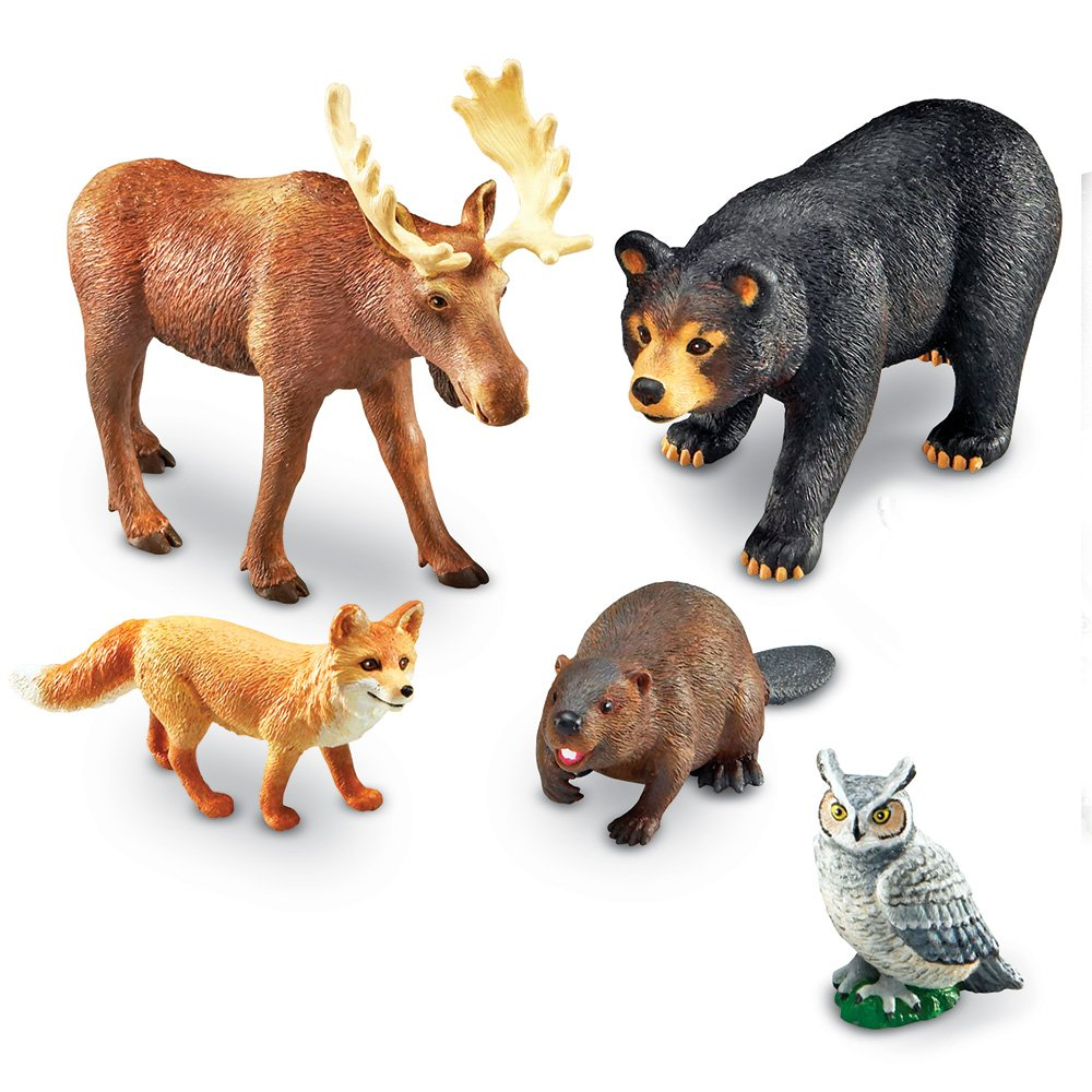 Learning Resources Jumbo Animals, Forest Animals - LER0787