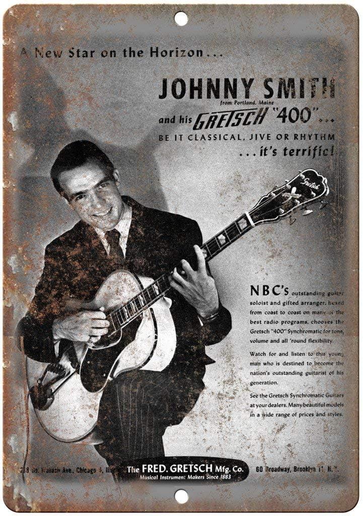 Radiancy Inc Johnny Smith Gretsch - Cartel decorativo para pared, diseño de guitarra rara