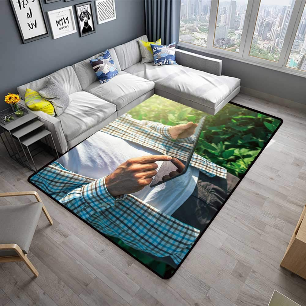 Amazon.com: alsohome Printed Carpet Farmer us Digital Tablet ...