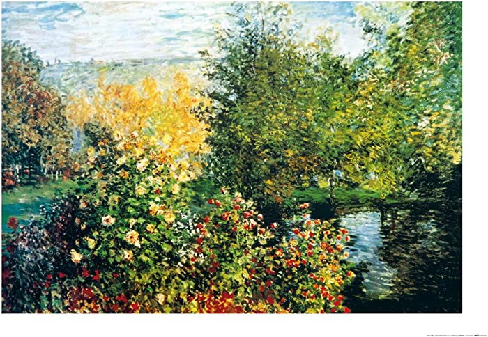 1art1 Claude Monet Poster Art Print - A Corner of The Garden at Montgeron (39 x 28 inches)